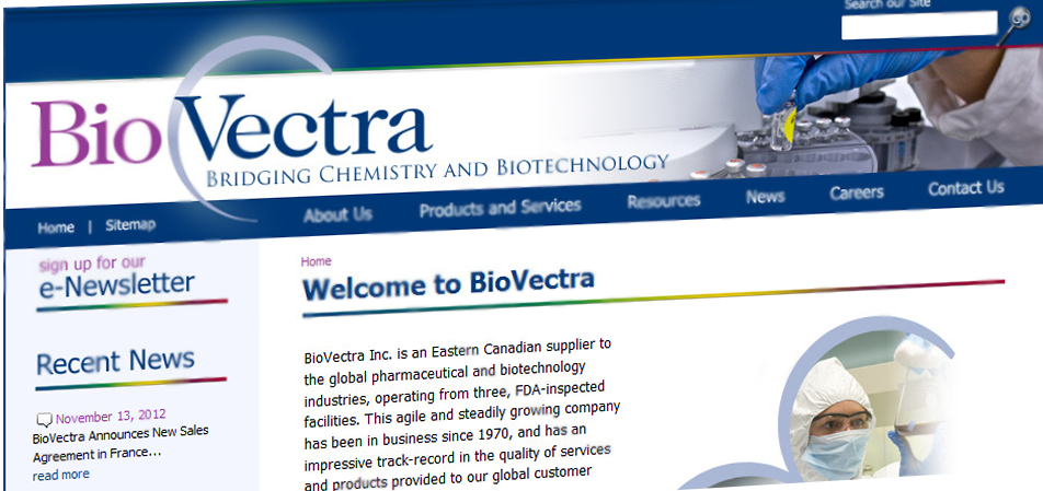 Image du site Biovectra